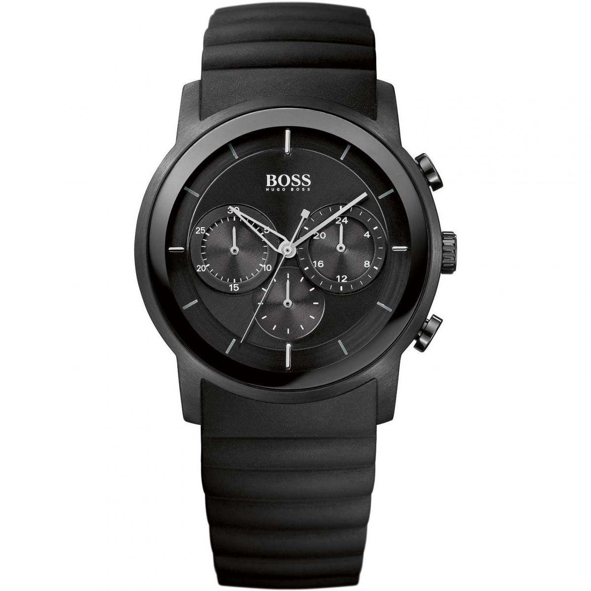 hommes hugo boss moderne chronographe montre 1512639. Black Bedroom Furniture Sets. Home Design Ideas