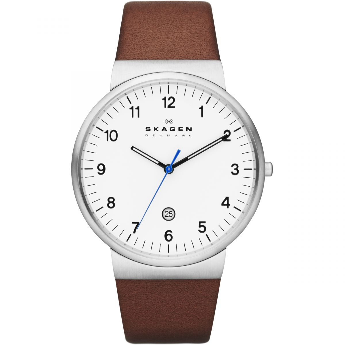 New New Skagen White Skw6082 Three-Hand Leather Watch for Men Sale Sale