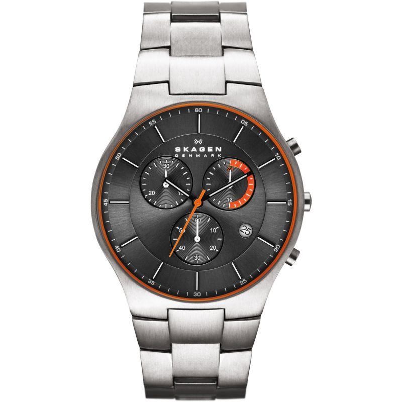 Mens Skagen Balder Titanium Chronograph Watch