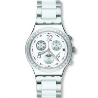 femme Swatch Dreamwhite Chronograph Watch YCS511GC