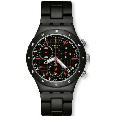 Montre Chronographe Homme Swatch Black Coat YCB4019AG