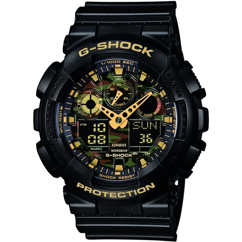 Herren Casio G-Shock Alarm Chronograph Watch GA-100CF-1A9ER