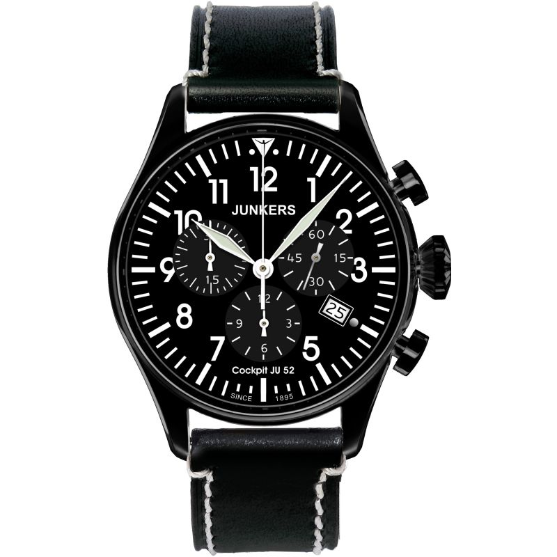 Mens Junkers Cockpit JU52 Chronograph Watch 6182-2