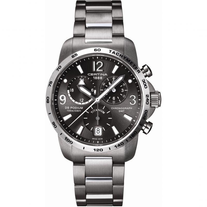 Mens Certina DS Podium GMT Titanium Chronograph Watch
