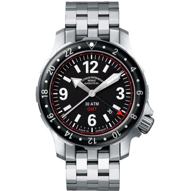 Mens Muhle Glashutte Marinus GMT Automatic Watch