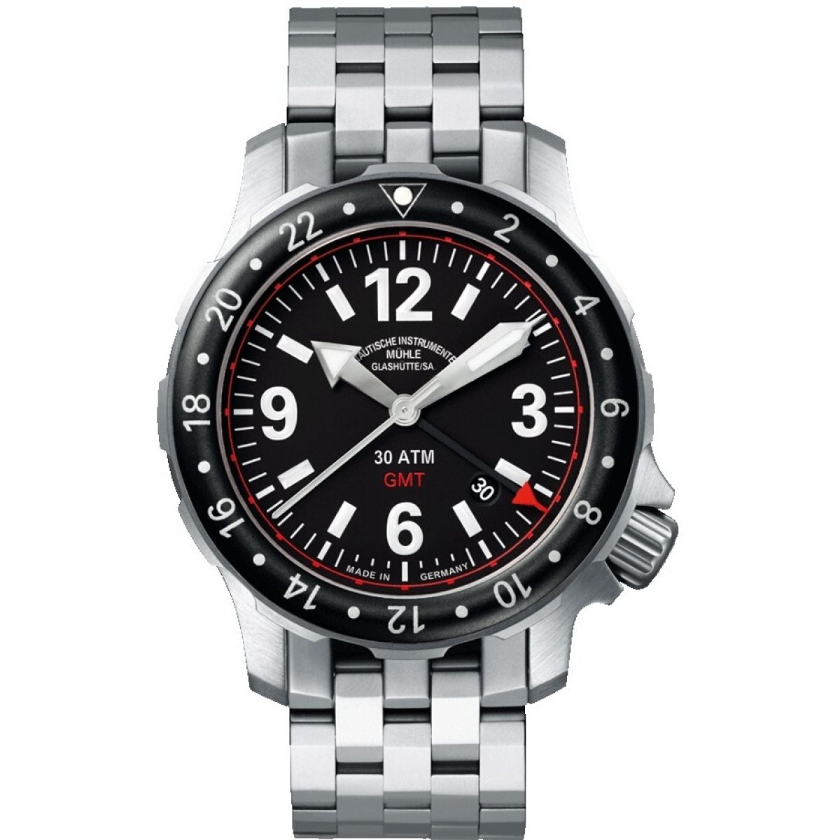Gents muhle glashutte marinus gmt watch m1 28 53 mb for Muhle watches