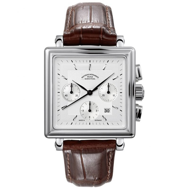 Mens Muhle Glashutte Teutonia II Quadrant Automatic Chronograph Watch
