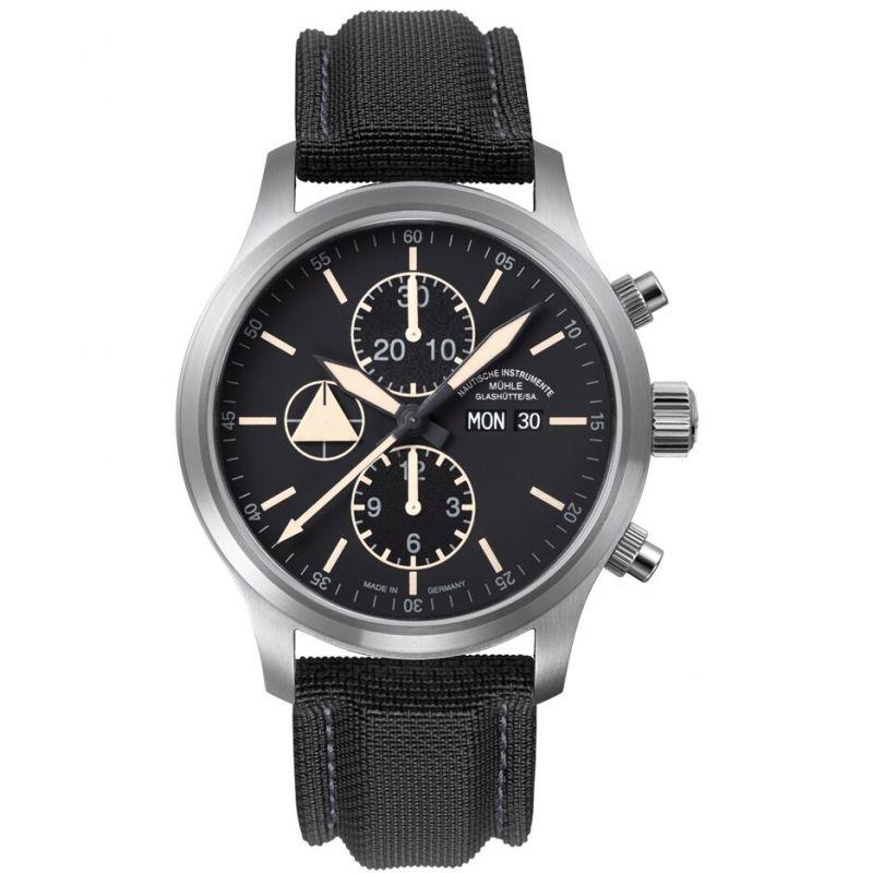 Mens Muhle Glashutte Terranaut I Trail Automatic Chronograph Watch
