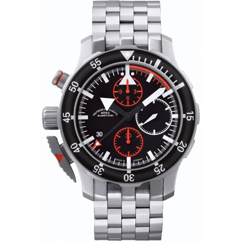 Mens Muhle Glashutte S.A.R. Flieger Automatic Chronograph Watch