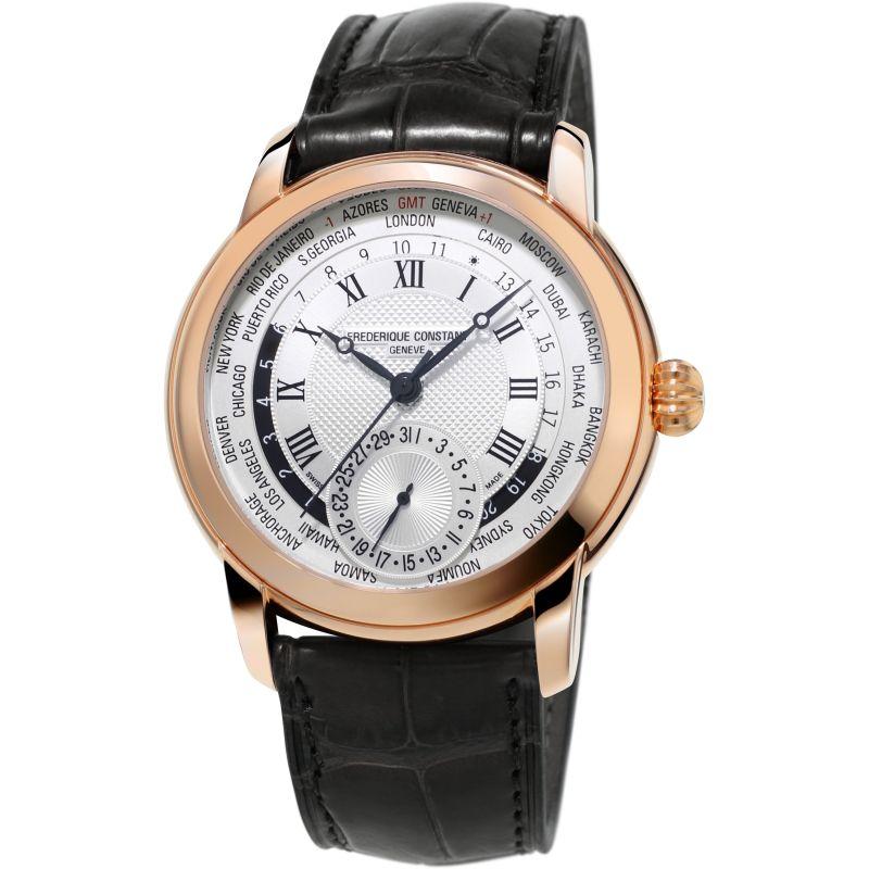 Herren Frederique Constant Classic Manufacture Worldtimer Watch FC-718MC4H4
