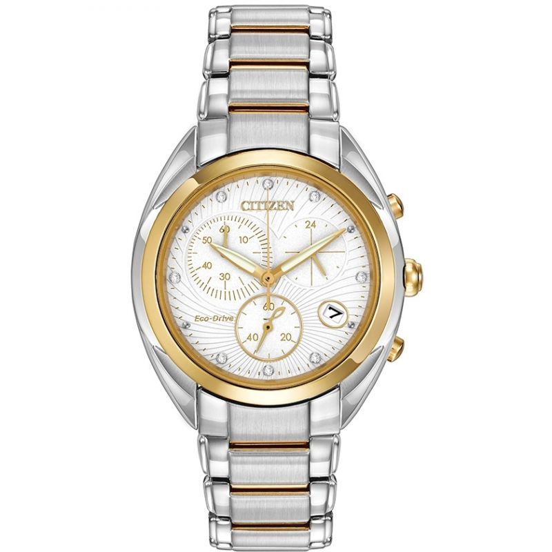 Ladies Citizen Chronograph Diamond Watch
