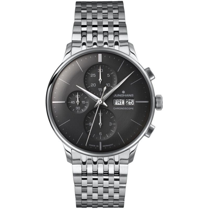 Herren Junghans Meister Chronoscope Chronograph Watch 027/4324.44