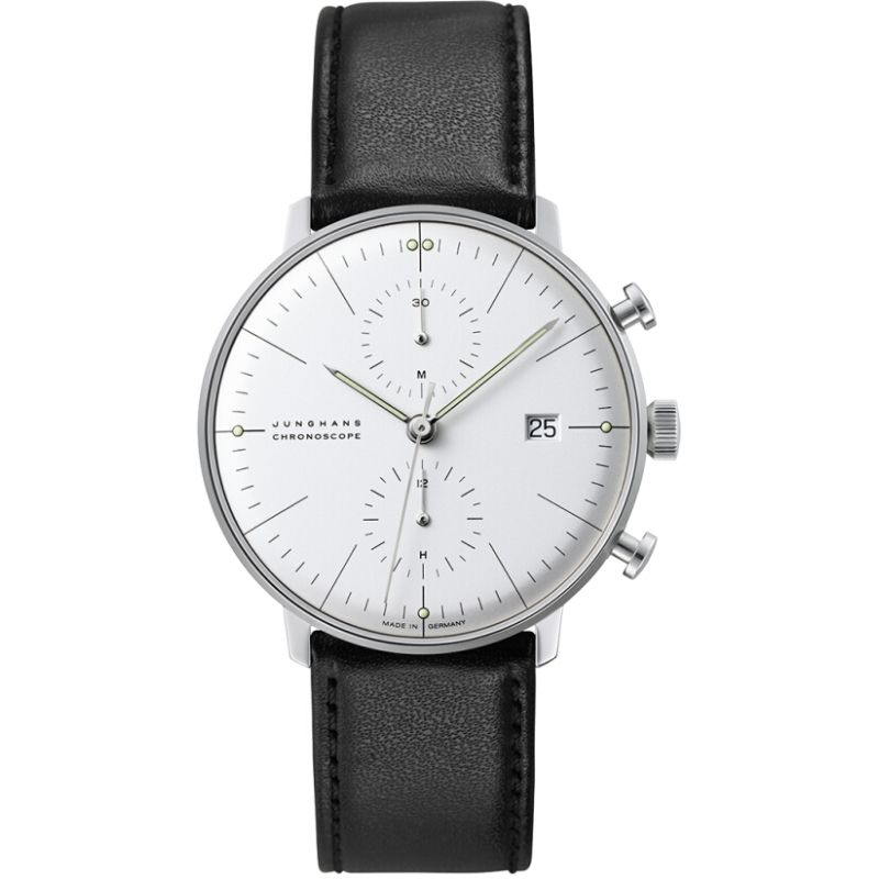 Herren Junghans Max Bill Chronoscope Chronograph Watch 027/4600.00