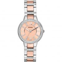 Fossil Virginia Dameshorloge Tweetonig ES3405
