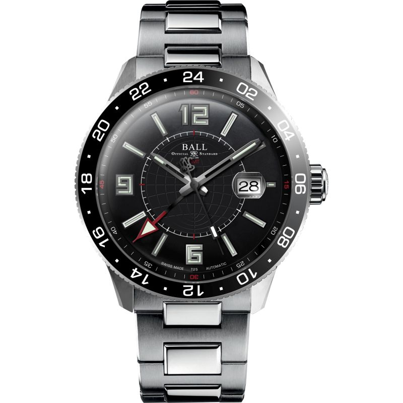Mens Ball Engineer Master II Pilot GMT Automatic Watch