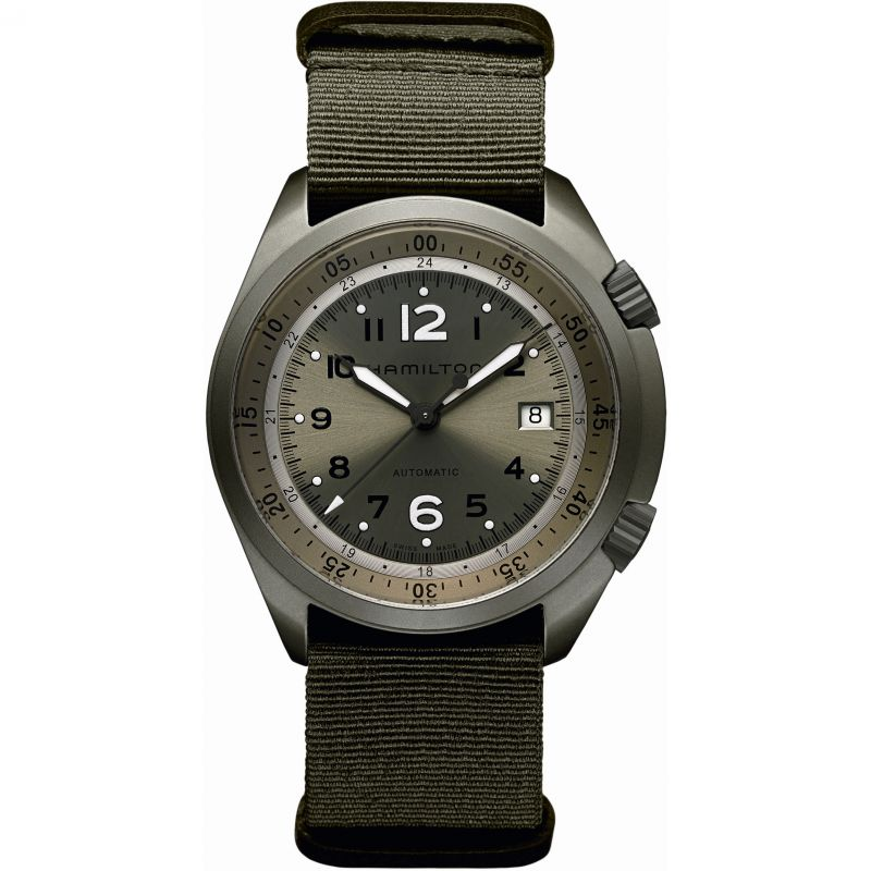 Mens Hamilton Khaki Pilot Pioneer Alu Automatic Watch