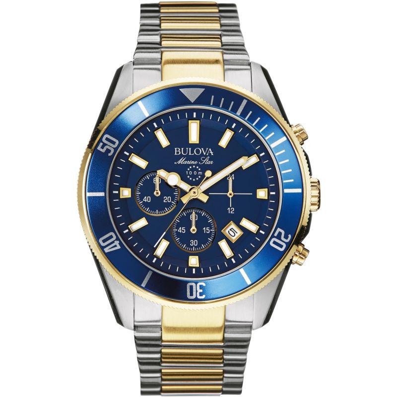 Mens Bulova Marine Star Chronograph Watch