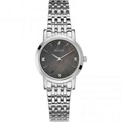 Ladies Bulova Diamond Gallery Watch 96P148