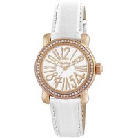 Pocket-Watch Rond Crystal Petite Dameshorloge Wit PK1010