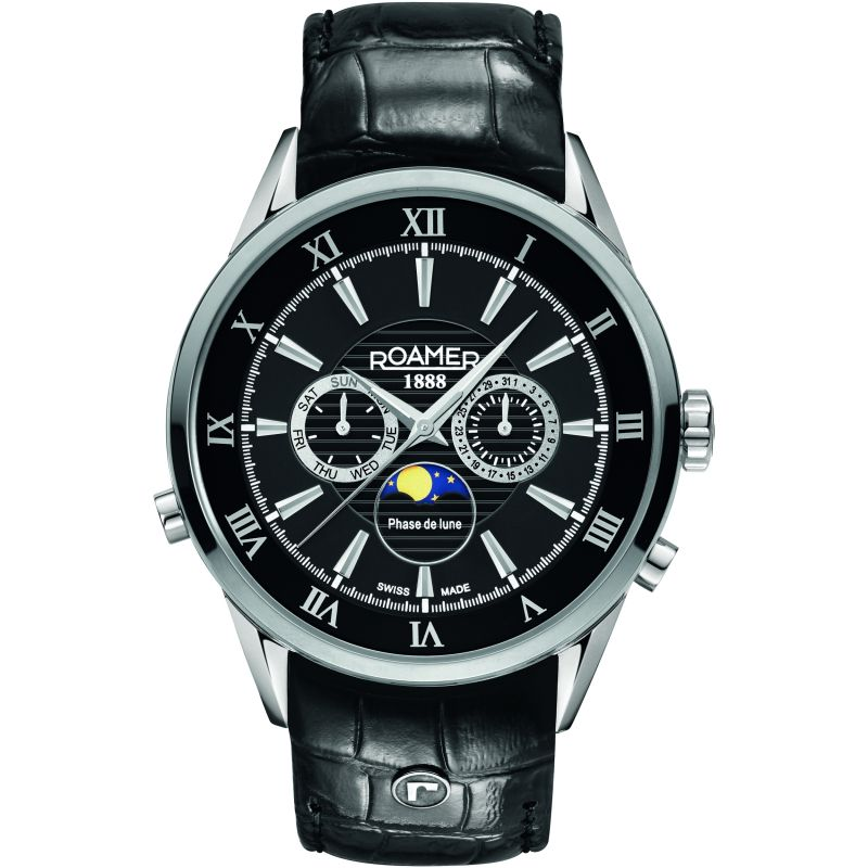 Mens Roamer Superior Moonphase Watch 508821415305
