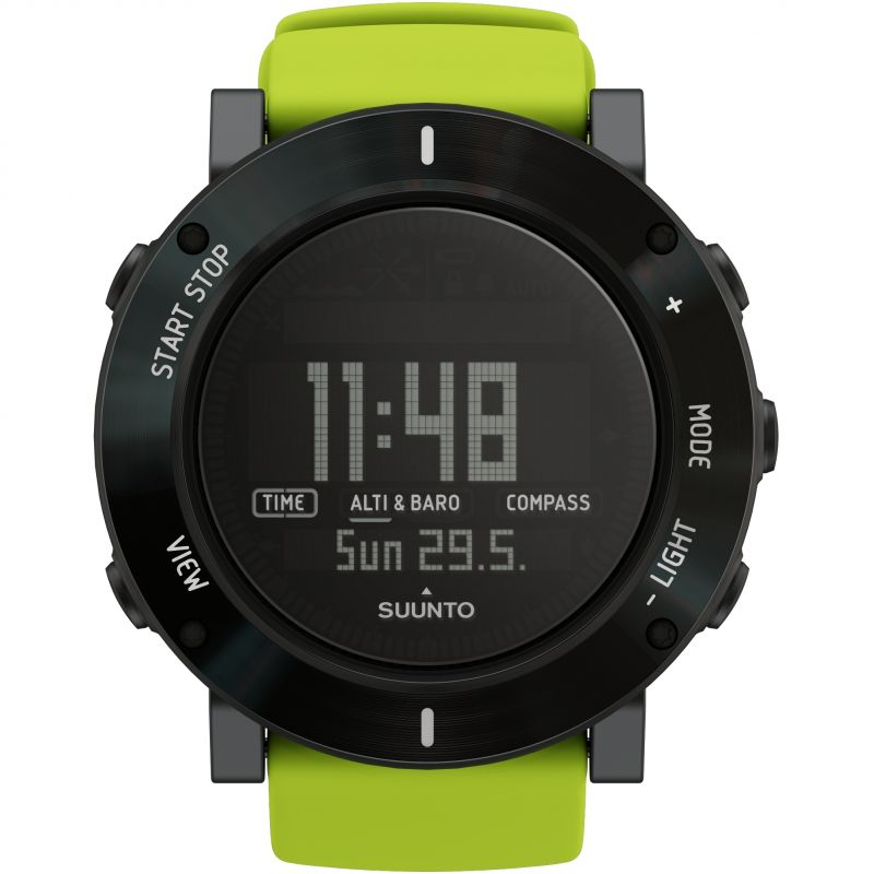 Mens Suunto Core Crush Lime Chronograph Watch