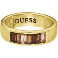 Damen Guess PVD Gold überzogen Größe N Channel Baguette Ring