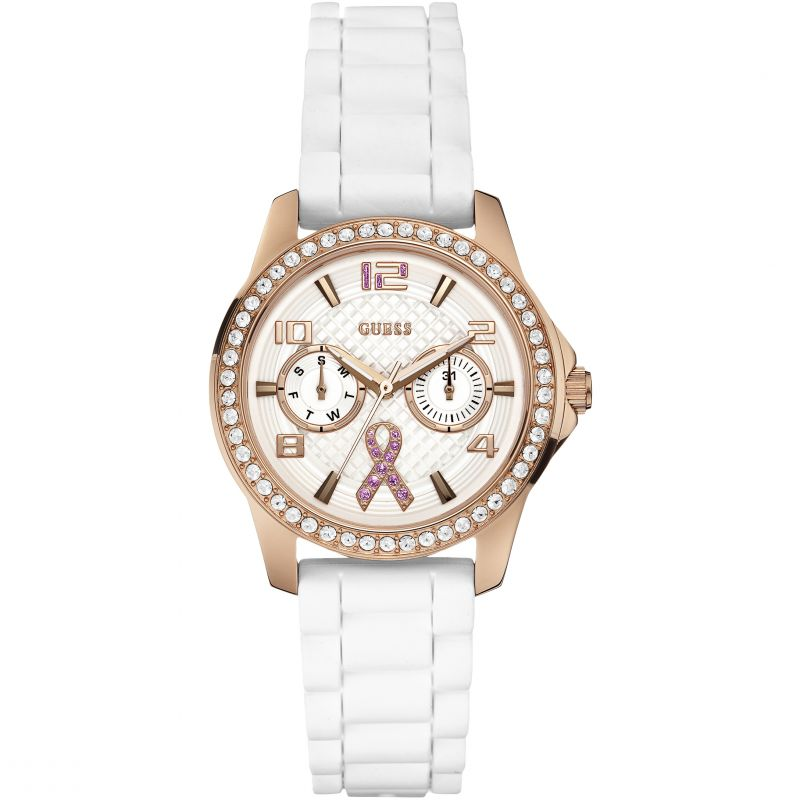 Ladies Guess Sparkling Pink Watch