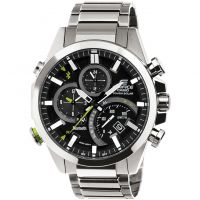 Casio Edifice Time Traveller Bluetooth Hybrid Smartwatch Herenchronograaf Zilver EQB-500D-1AER