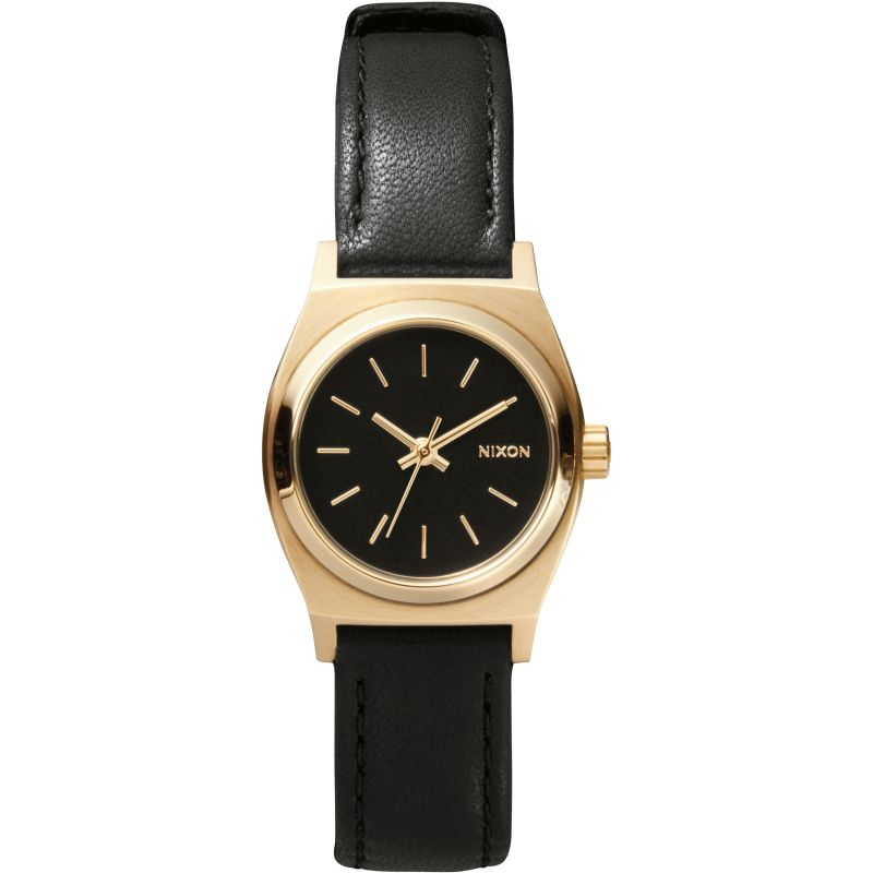 Ladies Nixon The Small Time Teller Leather Watch A509-010
