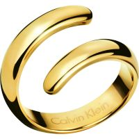 Damen Calvin Klein PVD Gold überzogen Größe L Embrace Ring