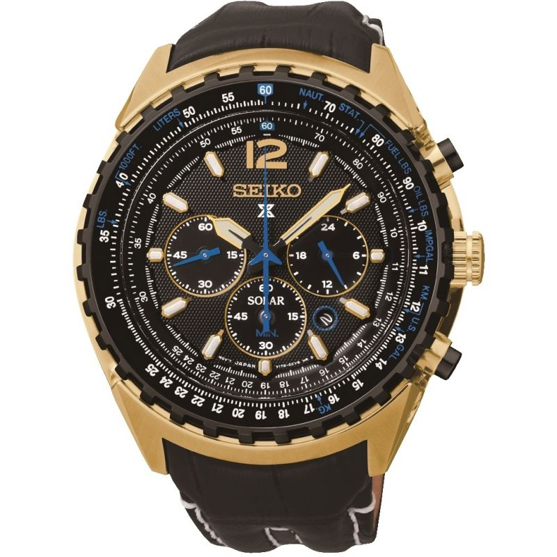 Mens Seiko Prospex Chronograph Solar Powered Watch SSC264P1