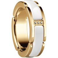 Ladies Bering PVD Gold plated Link Ring Size P