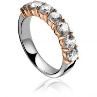Ladies Zinzi Sterling Silver Ring Size N ZIR1000D/54