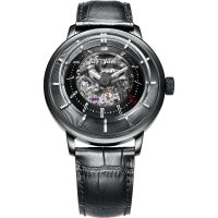 FIYTA 3D Time Skeleton Limited Edition Herrklocka Svart GA8606.BBB