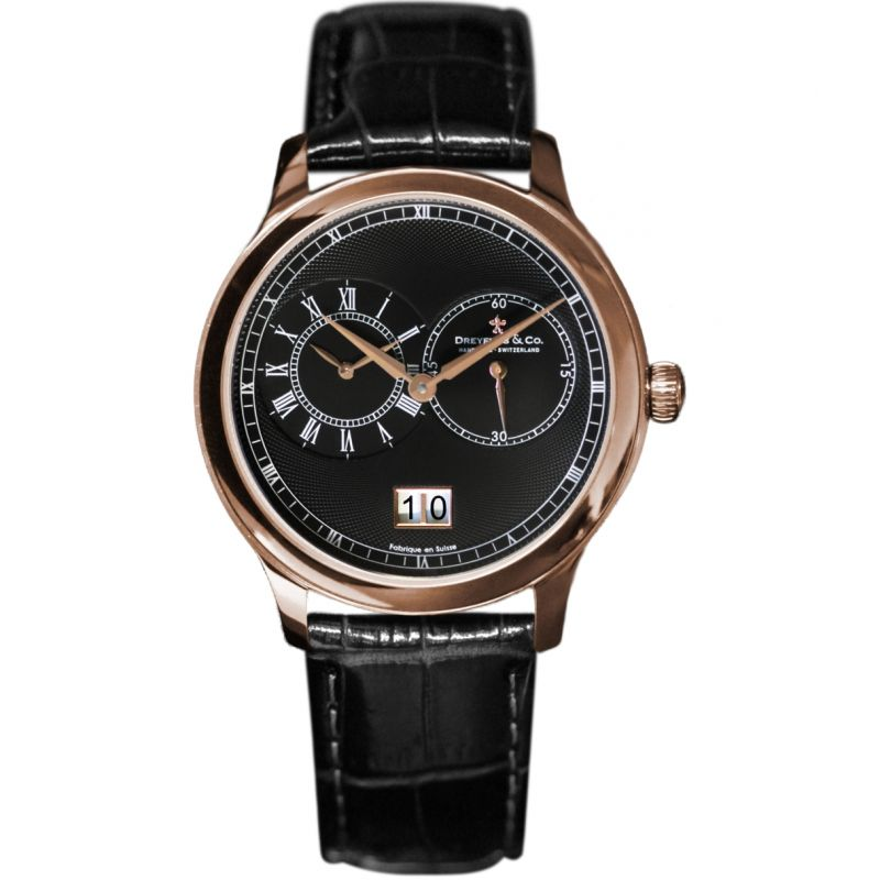Mens Dreyfuss Co 1946 Dual Time Zone Watch