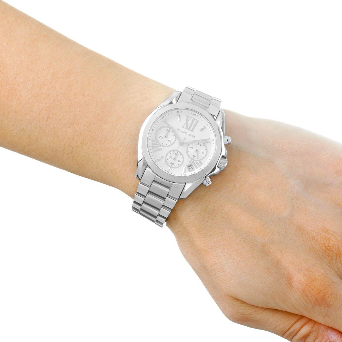 Michael Kors Bradshaw Reloj Para Mujer Plata Mk6174 Es