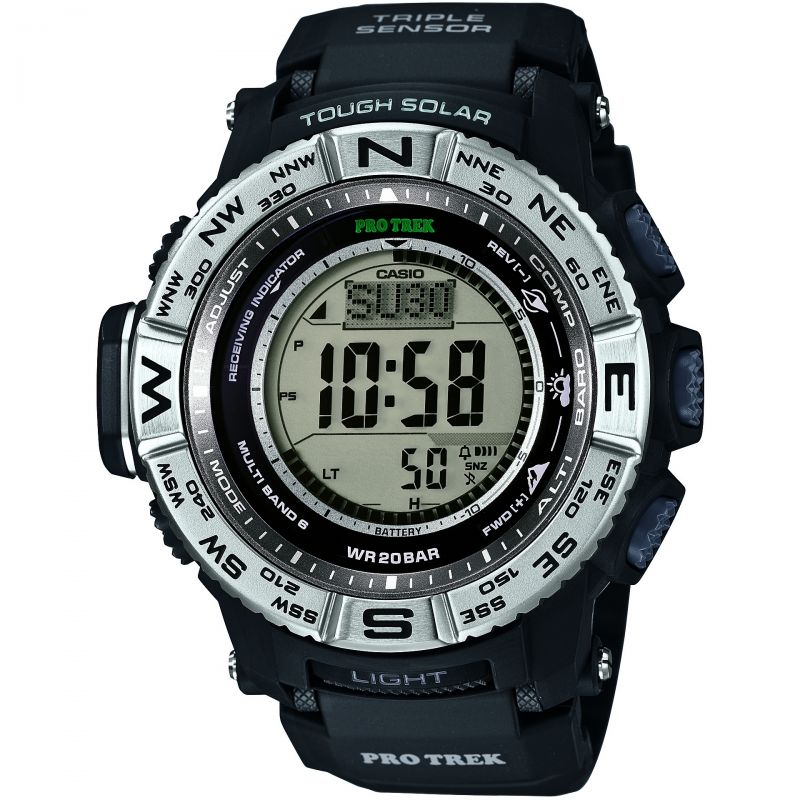 Mens Casio Pro-Trek Alarm Chronograph Watch PRW-3500-1ER