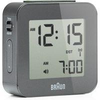Wanduhr Braun Clocks Travel Alarm Clock Radio Controlled BNC008GY-RC