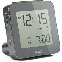 Wanduhr Braun Clocks Digital Alarm Clock Radio Controlled BNC009GY-RC