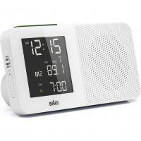 Wanduhr Braun Clocks Digital Radio Alarm Clock Radio Controlled BNC010WH-SRC