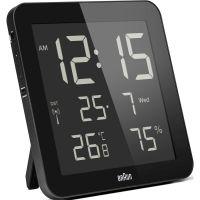 Wanduhr Braun Clocks Digital Wall Alarm Clock Radio Controlled BNC014BK-RC