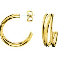 Damen Calvin Klein PVD Gold überzogen Sumptuous Ohrringe