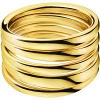 Damen Calvin Klein PVD Gold überzogen Größe O Sumptuous Ring