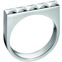 Damen Calvin Klein Edelstahl Größe O Edge Ring