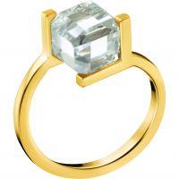 Damen Calvin Klein PVD Gold überzogen Größe L.5 Daring Ring