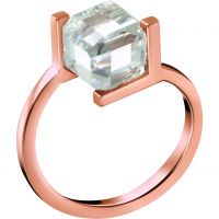 Damen Calvin Klein PVD Rosa plating Größe L Daring Ring