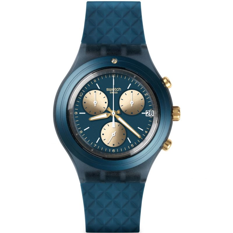 Unisex Swatch Irony Diaphane - Ardoise Chronograph Watch