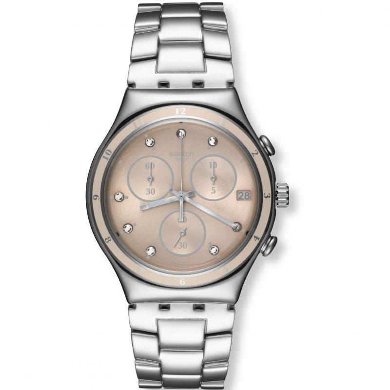 Ladies Swatch Irony Chrono - Classy Shine Chronograph Watch