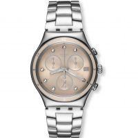 Damen Swatch eisern Chrono - klassisch Shine Chronograf Uhr