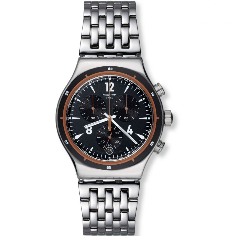 Mens Swatch Irony Chrono - Destination Madrid Chronograph Watch